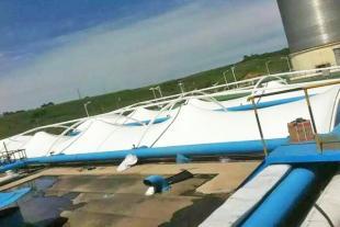 膜结构蓄水池加盖工程安装