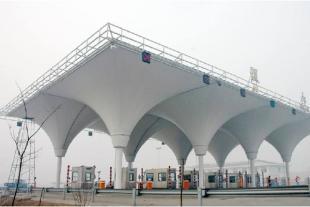 承接膜结构加油加气站