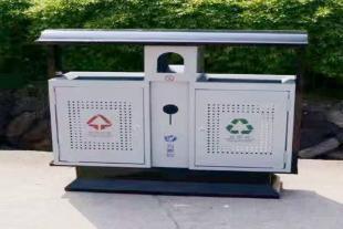 批发采购 分类果皮箱 分类垃圾箱 镀锌奥运桶