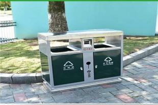 厂家直销户外果皮箱 不锈钢分类垃圾箱