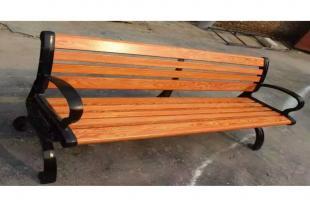 户外休闲长椅 木质公园靠背座椅 现货供应