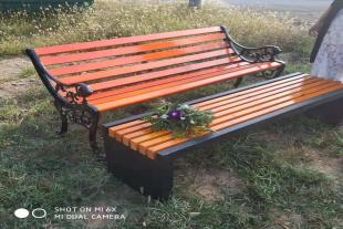 批发定制 公园园林休闲椅 实木防腐木座椅