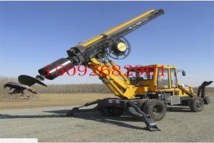 新款热销小型旋挖钻机现场视频  轮式180度旋挖钻机