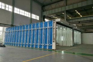 伸缩房废气处理移动伸缩喷漆房方案制定