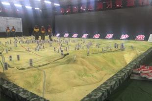 山东军事模型地形演示沙盘设计制作