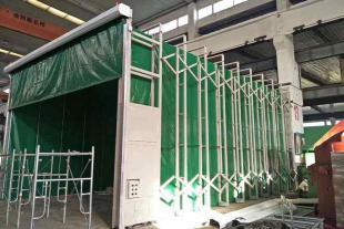 根据尺寸定制移动伸缩喷漆房 配套催化燃烧整套价格