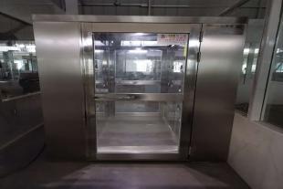 武汉仙桃304不锈钢单人双吹风淋室生产厂家