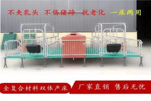 猪用产床 双体母猪分娩产床誉嘉直销畜牧设备