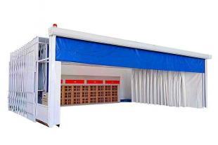 移动伸缩房 伸缩喷漆房 配置及价格