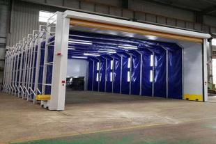 多功能移动伸缩喷漆房 厂家安装定制