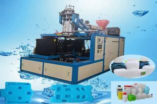 堆码桶吹塑机吹瓶机单工位走水气针机器