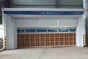 重型工件废气处理设备 伸缩移动喷漆房整套流程方案