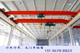 湖北襄阳行车行吊厂家两台5吨天车报价单